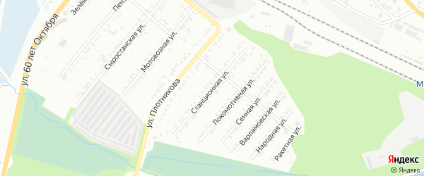 Станционная улица на карте Миасса с номерами домов
