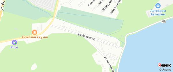 Улица Бакулина (п Ильменский) на карте Миасса с номерами домов