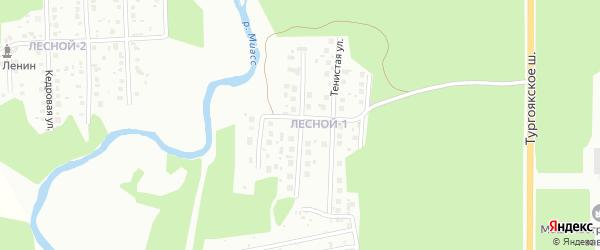 Янтарная улица на карте Миасса с номерами домов