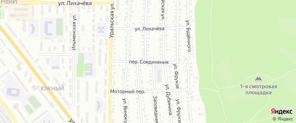 Переулок Соединения на карте Миасса с номерами домов