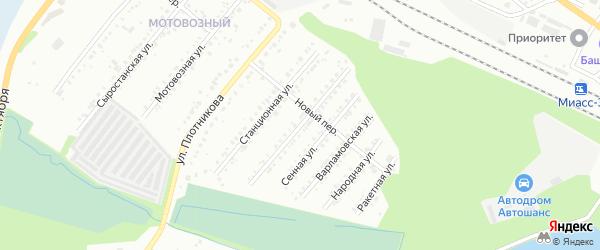 Локомотивная улица на карте Миасса с номерами домов