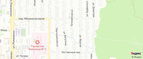 Таганайская улица на карте Миасса с номерами домов