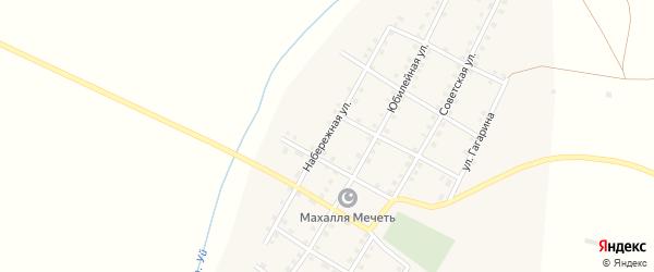 Набережная улица на карте села Аминево с номерами домов