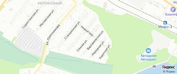 Сенная улица на карте Миасса с номерами домов