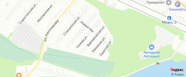 Варламовская улица на карте Миасса с номерами домов