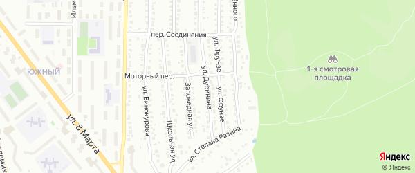 Улица Дубинина на карте Миасса с номерами домов