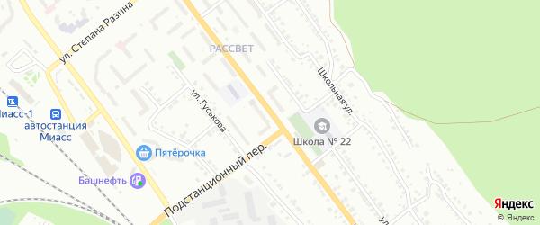 Улица 8 Марта на карте поселка Архангельского с номерами домов
