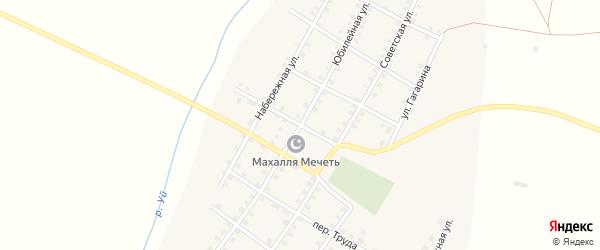 Юбилейная улица на карте села Аминево с номерами домов