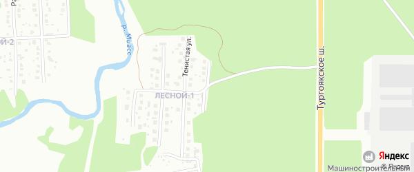Улица Радужная (СНТ Северный-2) на карте Миасса с номерами домов