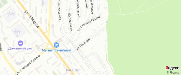 Улица Пугачева на карте Миасса с номерами домов