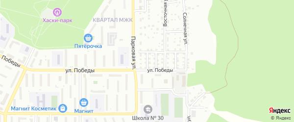 Лучевой переулок на карте Миасса с номерами домов
