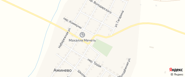 Советская улица на карте села Аминево с номерами домов