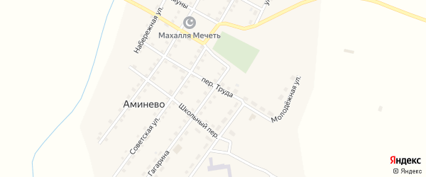 Улица Гагарина на карте села Аминево с номерами домов