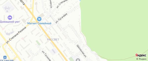 Мало-Школьная улица на карте Миасса с номерами домов