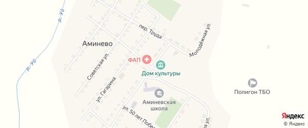 Молодежная улица на карте села Аминево с номерами домов