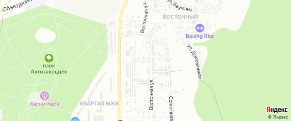 Парковый переулок на карте Миасса с номерами домов