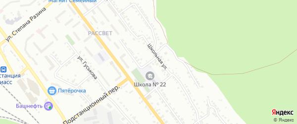 Подстанционный переулок на карте Миасса с номерами домов