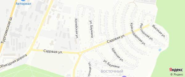Улица Баумана на карте Миасса с номерами домов