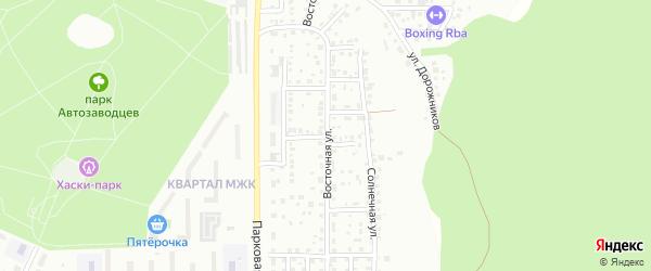 Средний переулок на карте Миасса с номерами домов