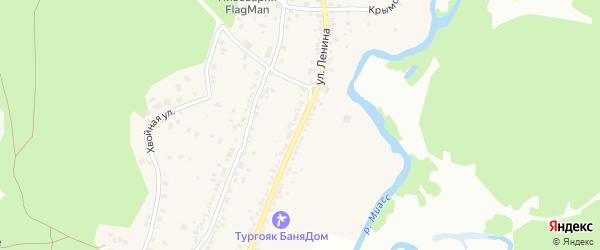 Улица Ленина на карте поселка Тургояка с номерами домов