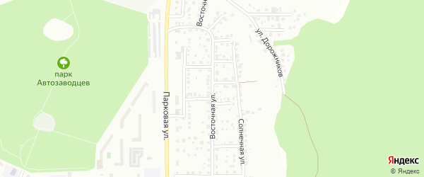Улица Восточная (СНТ Северный-2) на карте Миасса с номерами домов