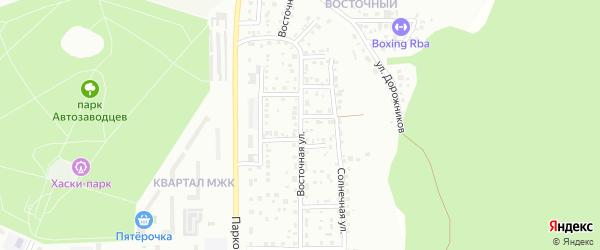Восточная улица на карте Миасса с номерами домов