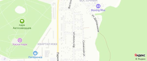 Восточная улица на карте поселка Архангельского с номерами домов