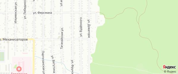 Улица Доватора на карте Миасса с номерами домов
