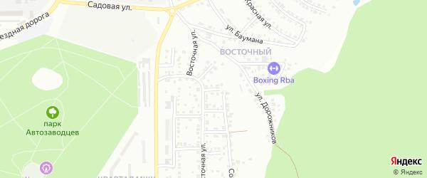 Стахановский переулок на карте Миасса с номерами домов