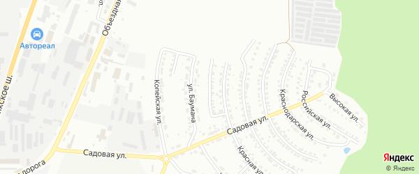 Улица Строителей на карте Миасса с номерами домов