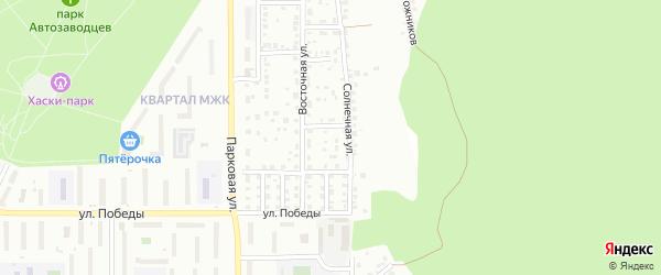 Переулок Червякова на карте Миасса с номерами домов