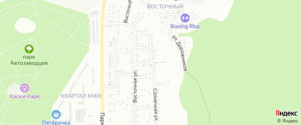 Тихий переулок на карте Миасса с номерами домов