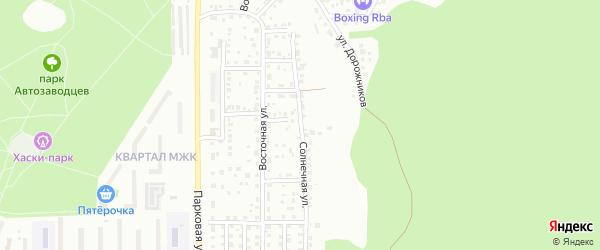 Солнечная улица на карте Миасса с номерами домов