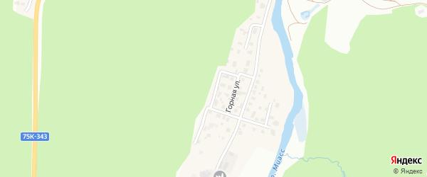 Сосновая улица на карте поселка Тургояка с номерами домов
