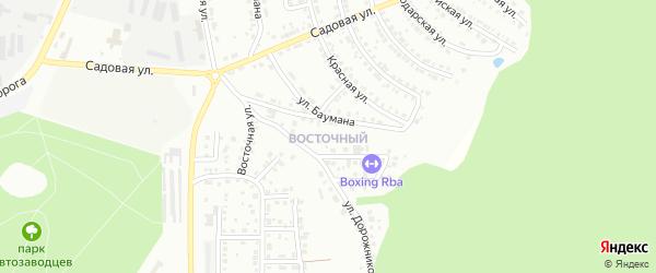 Территория ГСК Восточный на карте Миасса с номерами домов
