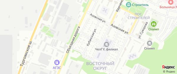 Невская улица на карте Миасса с номерами домов