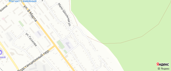 Заповедная улица на карте Миасса с номерами домов