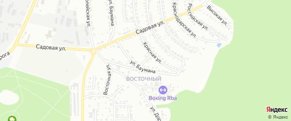 Песчаный переулок на карте Миасса с номерами домов
