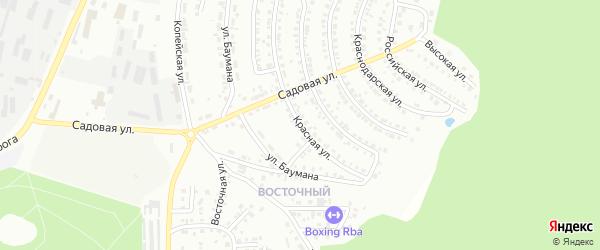 Красная улица на карте Миасса с номерами домов