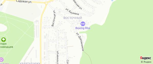 Улица Дорожников на карте Миасса с номерами домов