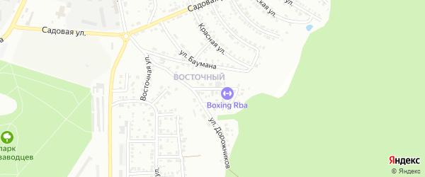 Заповедный переулок на карте Миасса с номерами домов