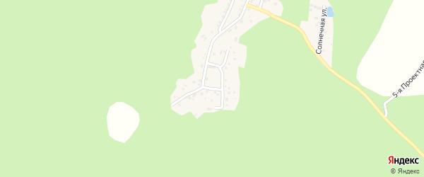 Сосновый переулок на карте поселка Михеевки с номерами домов
