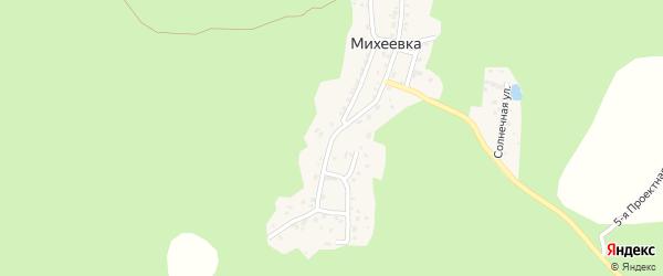 Березовая улица на карте поселка Михеевки с номерами домов