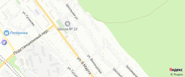 Школьная улица на карте железнодорожной станции Хребта с номерами домов