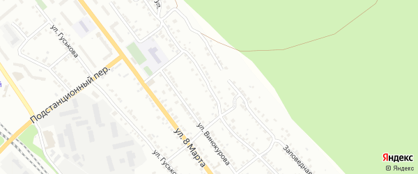 Школьная улица на карте Красного поселка с номерами домов