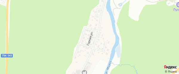 Горная улица на карте поселка Тургояка с номерами домов