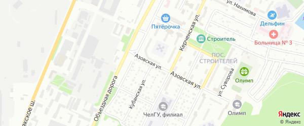 Кубанская улица на карте Миасса с номерами домов