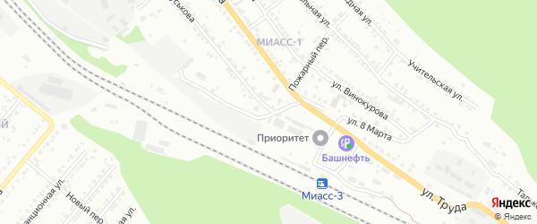 Улица Гуськова на карте Миасса с номерами домов