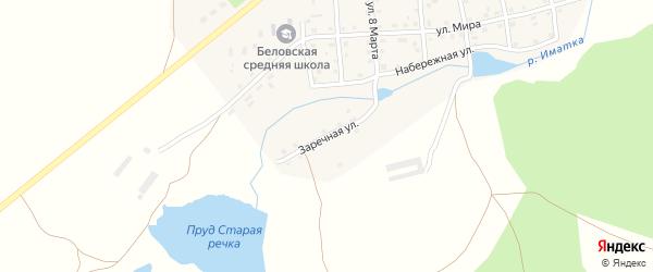 Заречная улица на карте села Белово с номерами домов