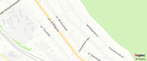 Комсомольский переулок на карте поселка Ленинска с номерами домов